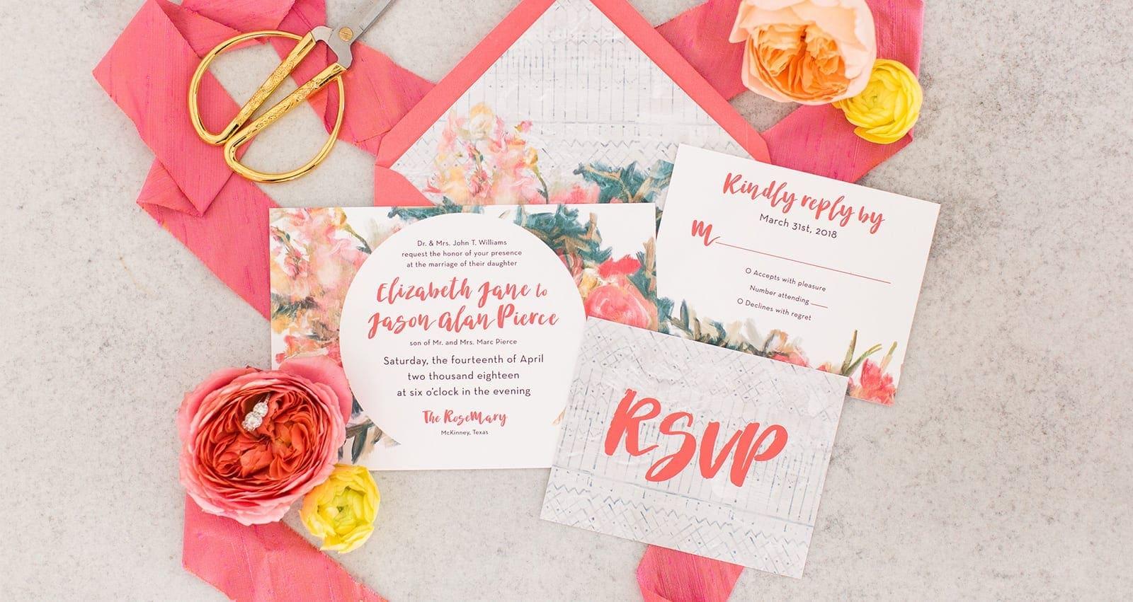 Illustrated Wedding Invitations: Custom Illustrated Wedding Invitations